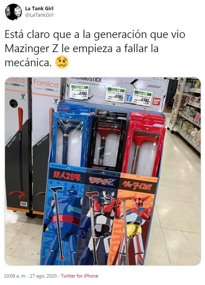 Está claro que la generación que vio Mazinger Z le empieza a fallar la mecánica